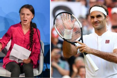 Roger Federer se harta de las bobadas de Greta Thunberg y sacude un 'raquetazo' a la niña ecologista