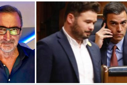Carlos Herrera define gráficamente por dónde tienen cogido a Pedro Sánchez los golpistas
