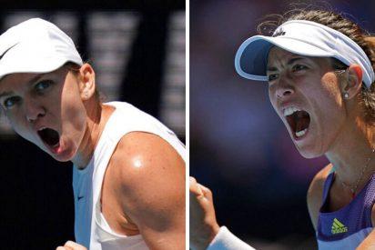 Garbiñe Muguruza confirma que ha resucitado, vence a Halep y jugara la final del Open de Australia