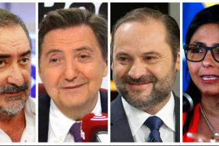 """Losantos y Herrera hacen trizas al """"caradura"""" Ábalos tras ser pillado en su reunión secreta con la """"forajida"""" Delcy Rodríguez"""