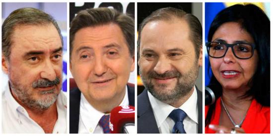 """Losantos y Herrera hacen trizas al """"caradura"""" Ábalos tras ser pillado en su reunión secreta con la """"forajida"""" mano derecha de Maduro"""