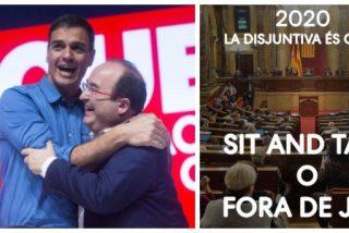 Iceta baila bien pegado a los golpistas: copia el lema de los CDR para felicitar el año y las redes lo crucifican