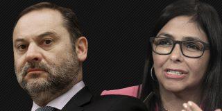 El ministro Ábalos se pliega a Podemos y se reúne en secreto en Barajas con la vicepresidenta chavista Delcy Rodríguez