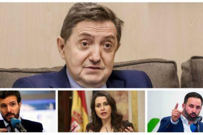 """Losantos 'espolea' a Abascal, Arrimadas y Casado con un duro mensaje: """"O se unen contra el Frente Popular o se van al guano"""""""