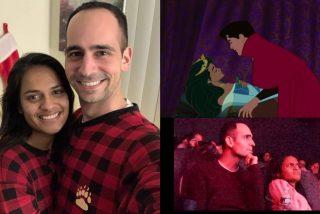 Matrimonio a lo 'Disney': cambia el final de 'La Bella Durmiente' para proponerse a su novia en un cine