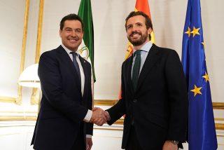 Juanma Moreno se reúne con Pablo Casado en San Telmo
