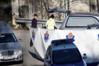 Los cuerpos de seguridad cubren el coche en el que fueron hallados Sheila García y Jon Ander Kortabarria.