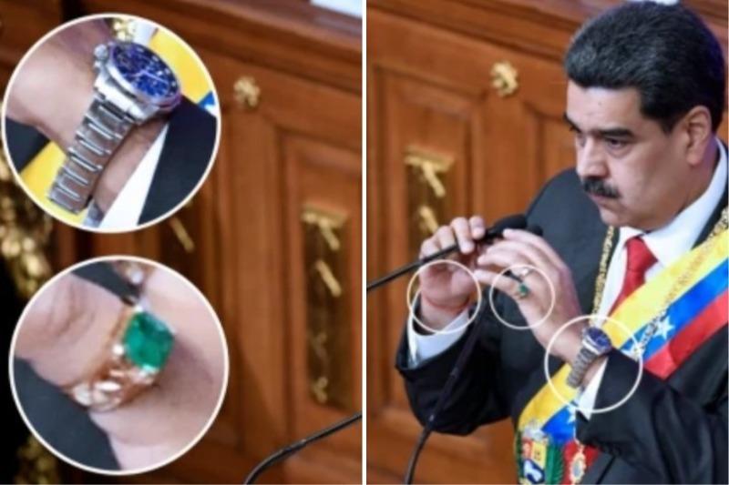 Venezuela: pillan a Nicolás Maduro con lujosas joyas y piezas de brujería