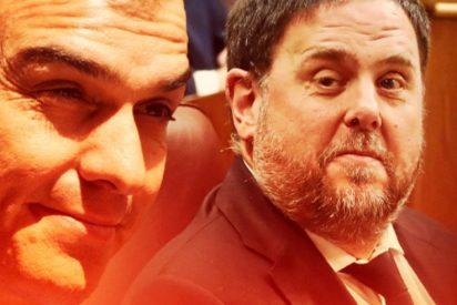 El socialista Pedro Sánchez traiciona a España y el PSOE aplaude sumiso