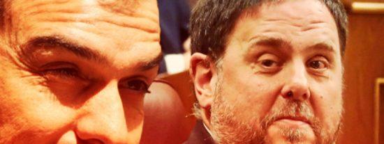 Sánchez (PSOE) y Junqueras (ERC): farsa, apaño e ignominia