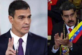 Pedro Sánchez convierte a España en la principal fuerza europea que apoya a la dictadura de Maduro