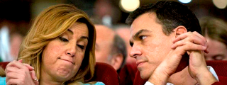 Susana Díaz suplica a Pedro Sánchez que le perdone la vida y la deje seguir en el cargo: