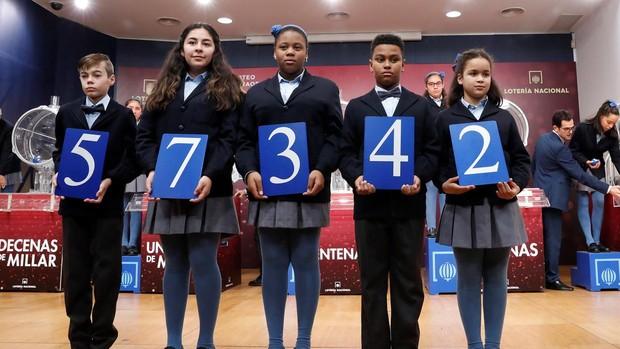 Lotería: El primer premio del Niño cae en el 57342 y reparte millones por toda España