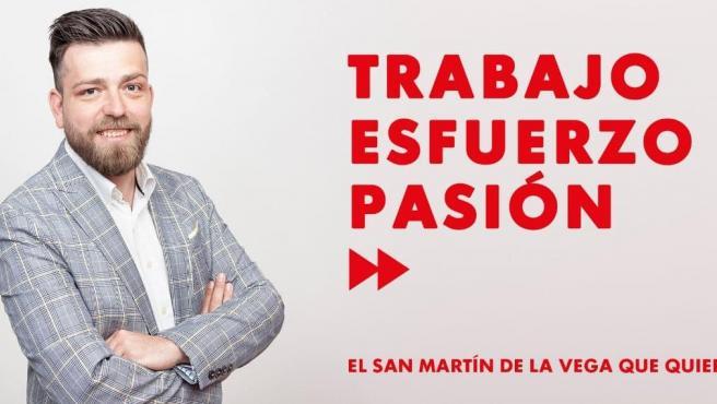 Rafael Martínez (PSOE), alcalde de San Martín de la Vega, gana un viaje a Disneyland sorteado por su Ayuntamiento