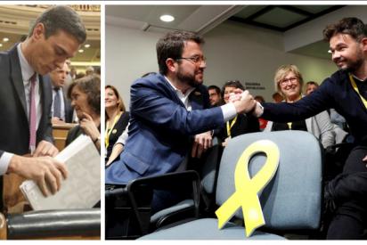 Sánchez, primer aviso: ERC empantana el Congreso y el Senado con 200 preguntas sobre la represión del Estado en Cataluña