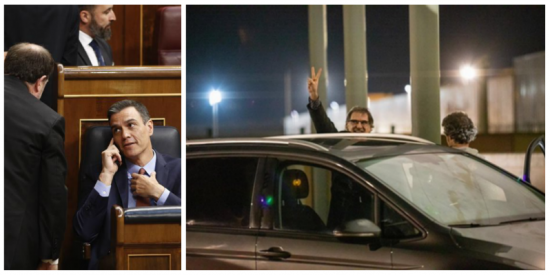 Pedro Sánchez y la imagen de la ignominia: el golpista Jordi Cuixart es el primer preso del 'procés' con permiso para pisar la calle