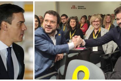 Sánchez sella el pacto de la vergüenza con ERC poniendo por escrito la secesión