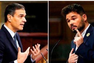 Pedro Sánchez, chantajeado por el menordomo de Junqueras, claudica ante el separatismo