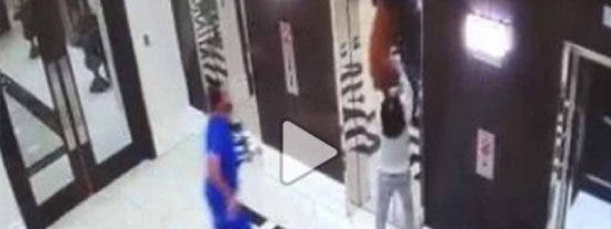 In extremis: un médico rescata a un perro ante la amenaza inminente de su correa atascada en el ascensor
