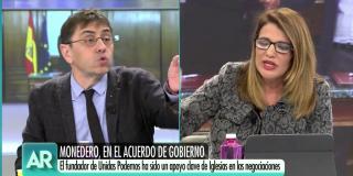 El Quilombo / Rebote monumental de María Claver por los insultos de Monedero: