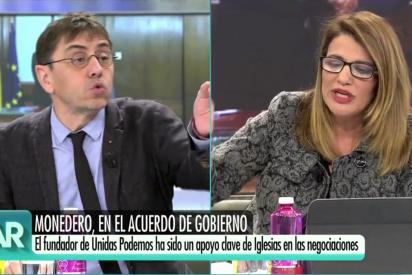 """El Quilombo / Rebote monumental de María Claver por los insultos de Monedero: """"¡No voy a aceptar lecciones de un comunista!"""""""