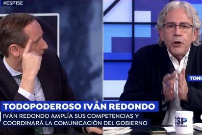 """El Quilombo / El 'sanchista' Toni Bolaño llama """"basura fascista"""" a Carlos Cuesta y se niega a pedir perdón pese a los ruegos de Griso"""