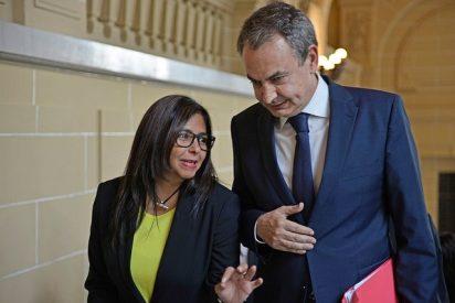 Zapatero tira un 'salvavidas' a Ábalos y termina encubriendo los brutales crímenes de Delcy Rodríguez