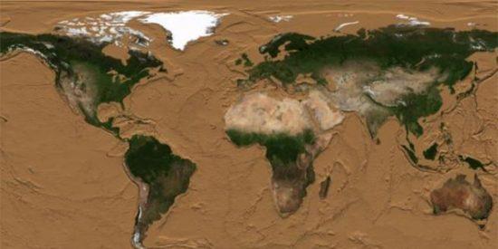 El vídeo que muestra cómo sería la Tierra si desapareciera todo el agua