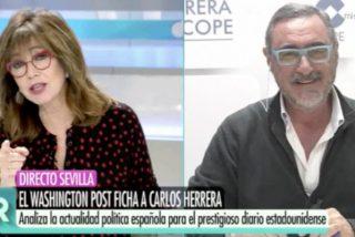 El palo tremendo en directo de Ana Rosa Quintana a Carlos Herrera