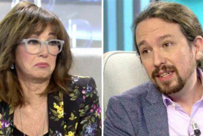 Ana Rosa desmonta el repertorio de mentiras chavistas de Pablo Iglesias