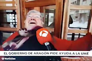 La 'abuelita' de Aragón que se descojonó de la caída de su vecina en la nieve