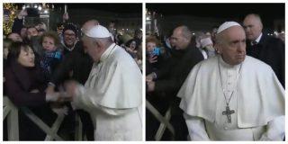La ira del Papa: el chavista Bergoglio muestra su cara más satánica con una feligresa que le cogió la mano