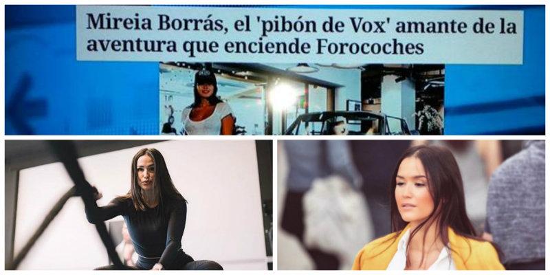VOX estalla ante la cosificación sexual a la que ciertos periodistas han sometido a su diputada Mireia Borrás
