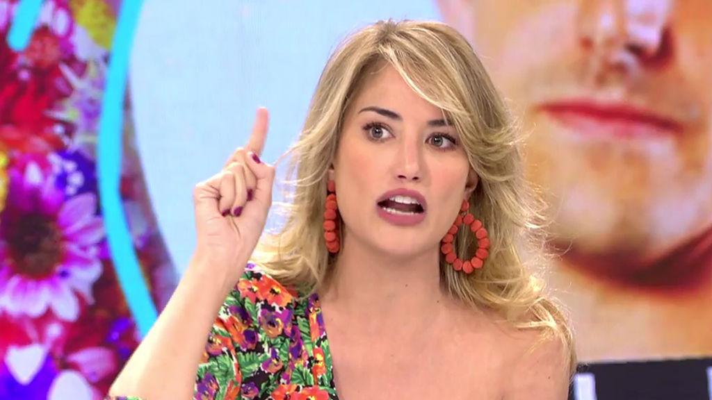 Alba Carillo 'se baja los pantalones' en su vuelta a Telecinco