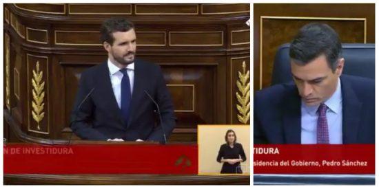 """Pablo Casado hace fosfatina a Pedro Sánchez con esta pregunta: """"¿Ha dormido bien esta noche?"""""""