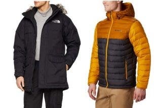 Chaquetas impermeables para hombres the Nort Face y Columbia