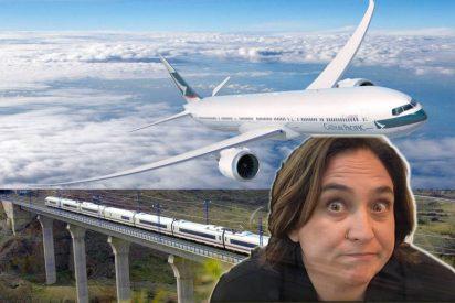 Ada Colau quiere cargarse el puente aéreo Madrid-Barcelona y sus amigos pretenden quitar todos estos trayectos