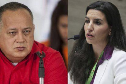 Diosdado Cabello ataca a Rocío Monasterio (Vox), pero calla como una puerta sobre el 'caso Ábalos'
