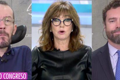 """Espinosa de los Monteros llama """"espécimen"""" en directo a Echenique y arma el lío con Ana Rosa Quintana"""