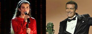"""Amaia Romero 'revienta' el discurso de Antonio Banderas: """"Este Goya me lo voy a meter por el culo"""""""
