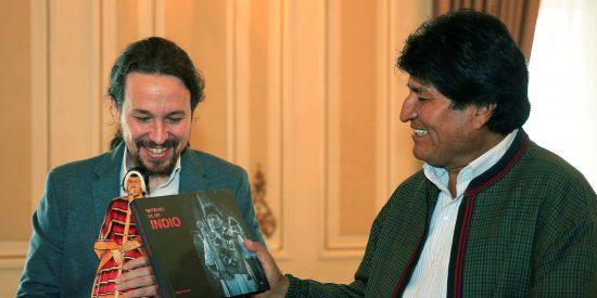 """Podemos usa a Evo Morales en su campaña de Galicia: tilda de """"ejemplo"""" al tirano tras el fraude electoral de Bolivia"""