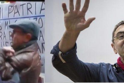 Monedero aprovecha la arbitraria detención de un patriota frente a la sede del PSOE para atacar al ABC