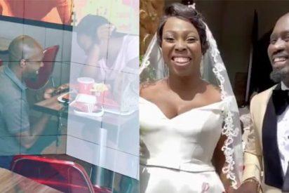 La boda de ensueño que pagaron las redes sociales al humilde hombre que pidió la mano de su esposa en un KFC