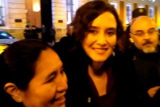 Presidenta de la Comunidad de Madrid departió con la diáspora venezolana en la Puerta del Sol