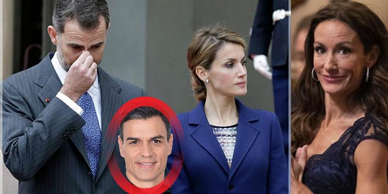 Arde Casa Real: bronca entre Don Felipe y Doña Letizia por culpa de Telma Ortiz y Pedro Sánchez