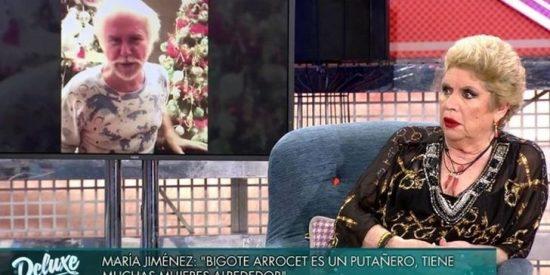 María Jiménez insulta a Bigote Arrocet y relata un sueño erótico en el que Jorge Javier Vázquez tenía vagina