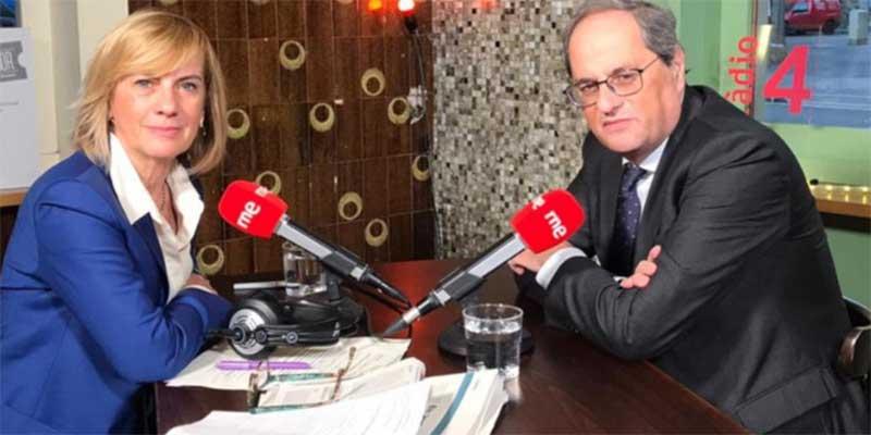 """La RTVE de Rosa María Mateo """"no acata la legalidad"""" y da máxima cobertura al """"inhabilitado"""" Quim Torra"""
