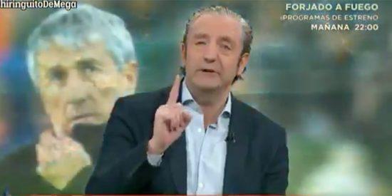 Pedrerol 'vacuna' con un palo tremendo a Quique Setién en su mediocre estreno