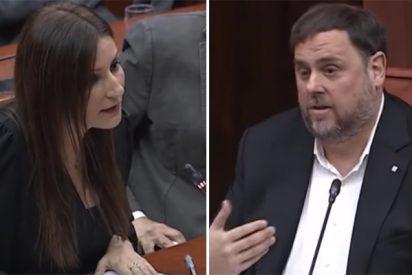 Descomunal repaso de Lorena Roldán en la cara misma de Junqueras y de todos sus amigotes