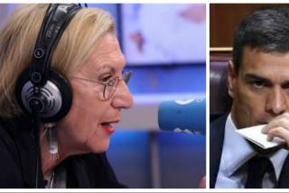 """Rosa Díez vaticina un oscuro futuro para Pedro Sánchez: """"Debe ser juzgado política y penalmente por sus mentiras"""""""